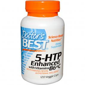 Doctor's Best 5-HTP with Vitamins B6 & C 100 mg 120 vcaps