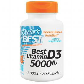 Doctor's Best Vitamin D-3 5.000 IU 180 softgels