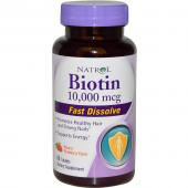 Natrol Fast Dissolve Strawberry Biotin 10.000 mcg 60 tab