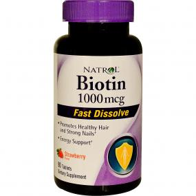 Natrol Fast Dissolve Strawberry Biotin 1.000 mcg 90 tab