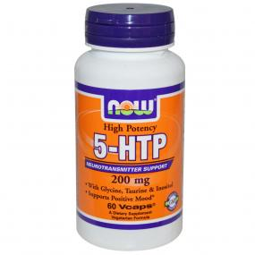 Now Foods 5-Htp 200 mg with Glycine Taurine Inositol 60 caps