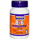 Now Foods B-6 50 mg 100 tab
