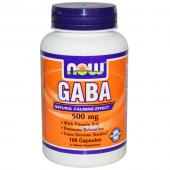 Now Foods Gaba 500 mg 100 caps