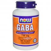 Now Foods Gaba 750 mg 100 caps