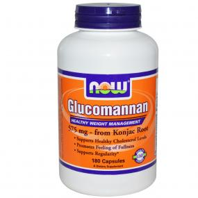 Now Foods Glucomannan 575 mg 180 caps