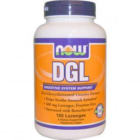 Now Foods DGL 400 mg 100 Lozenges