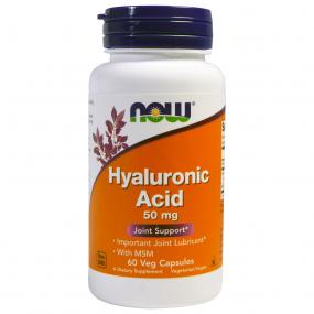Now Foods Hyaluronic Acid 50 mg with MSM 60 caps