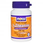 Now Foods L-Theanine 200 mg 60 vcaps