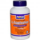 Now Foods L-Tryptophan 1000 mg 60 Tablets