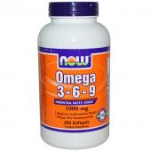 Now Foods Omega 3-6-9 1000 mg 250 soft