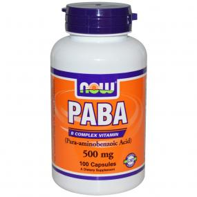 Now Foods PABA 500 mg 100 caps