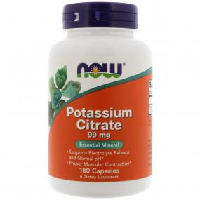 Now Foods Potassium Citrate 99 mg 180 caps
