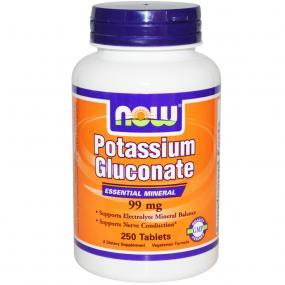 Now Foods Potassium Gluconate 99 mg 250 tab