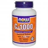 Now Foods Vitamin C-1000 Sustained Release with Rose Hips 100 tab