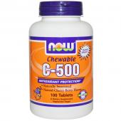 Now Foods C-500 Chewable Cherry-Berry Flavor 100 tab
