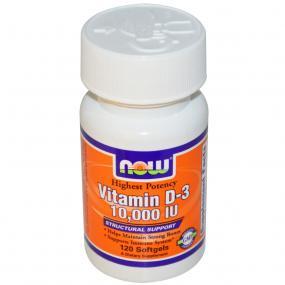 Now Foods Vitamin D-3 10.000 IU 120 soft