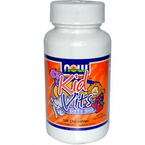 Now Foods Kid Vits Berry Blast 120 Chewables